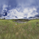 HDRI Cloudy Sky Trees Grassy Land And Rock