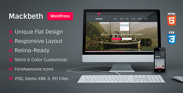 Mackbeth wordpress theme download