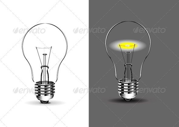 GraphicRiver Two Lightbulbs 5241138