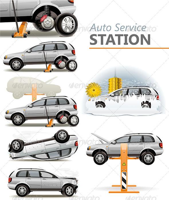 GraphicRiver Auto Service Station 5241702