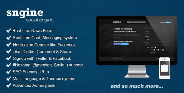 CodeCanyon Sngine Social Engine Platform 5241717