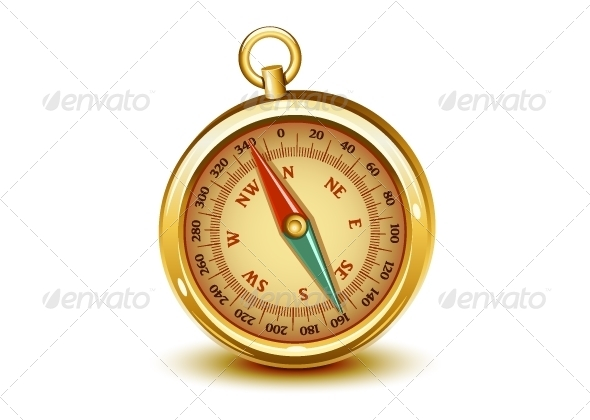 GraphicRiver Golden Realistic Compass 5241898