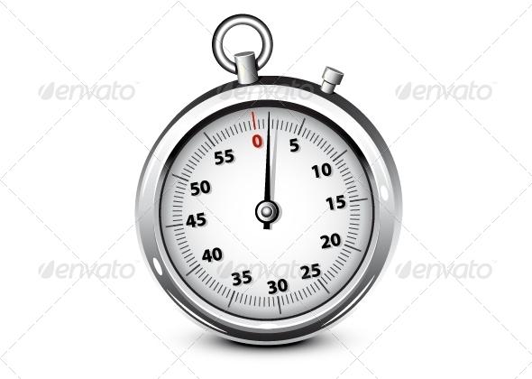 GraphicRiver Realistic Silver Chronometer 5241959