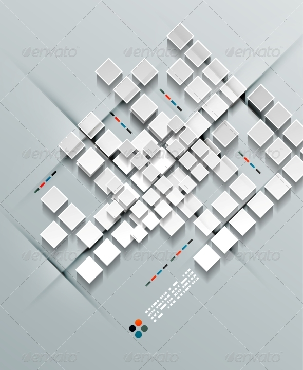 GraphicRiver 3D Paper Squares Design 5241992