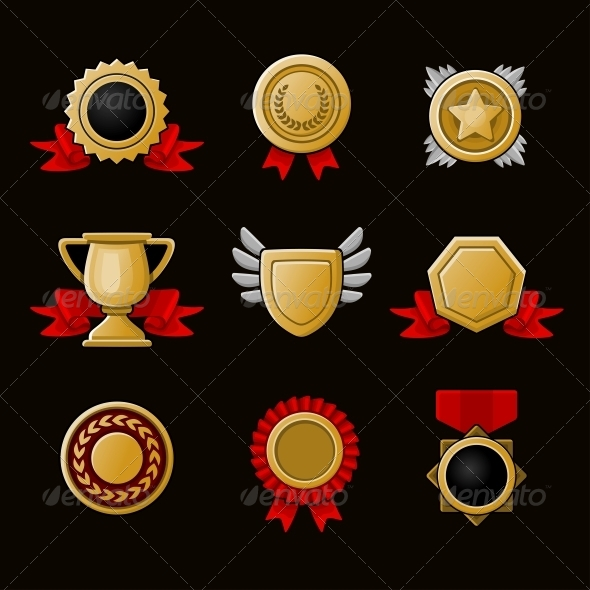 Achievement Icons Set