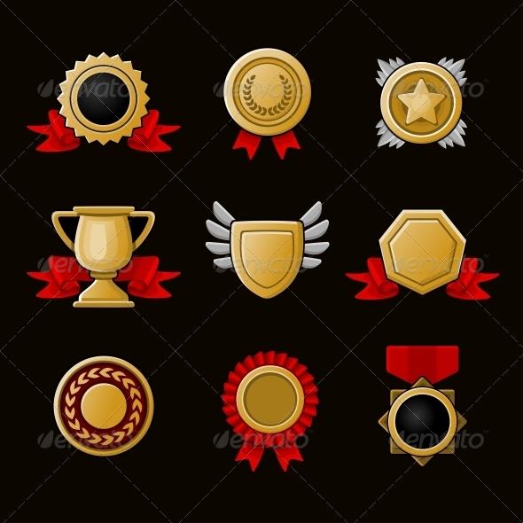 GraphicRiver Achievement Icons Set 5242020