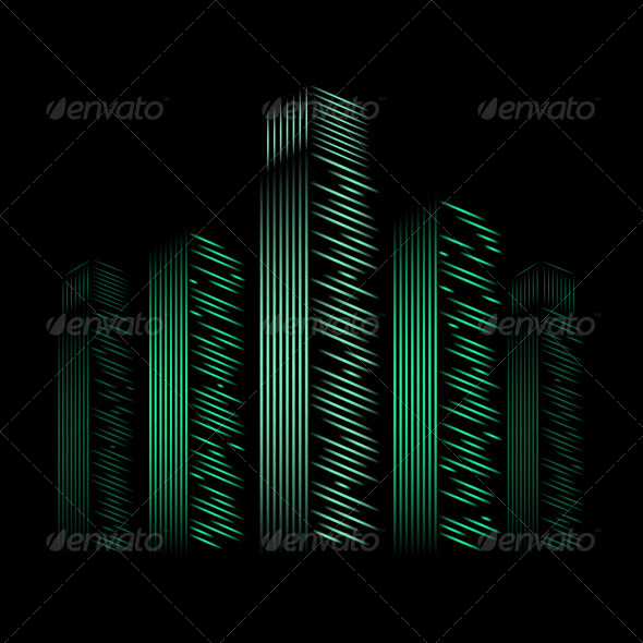 GraphicRiver Night City Background 5242052