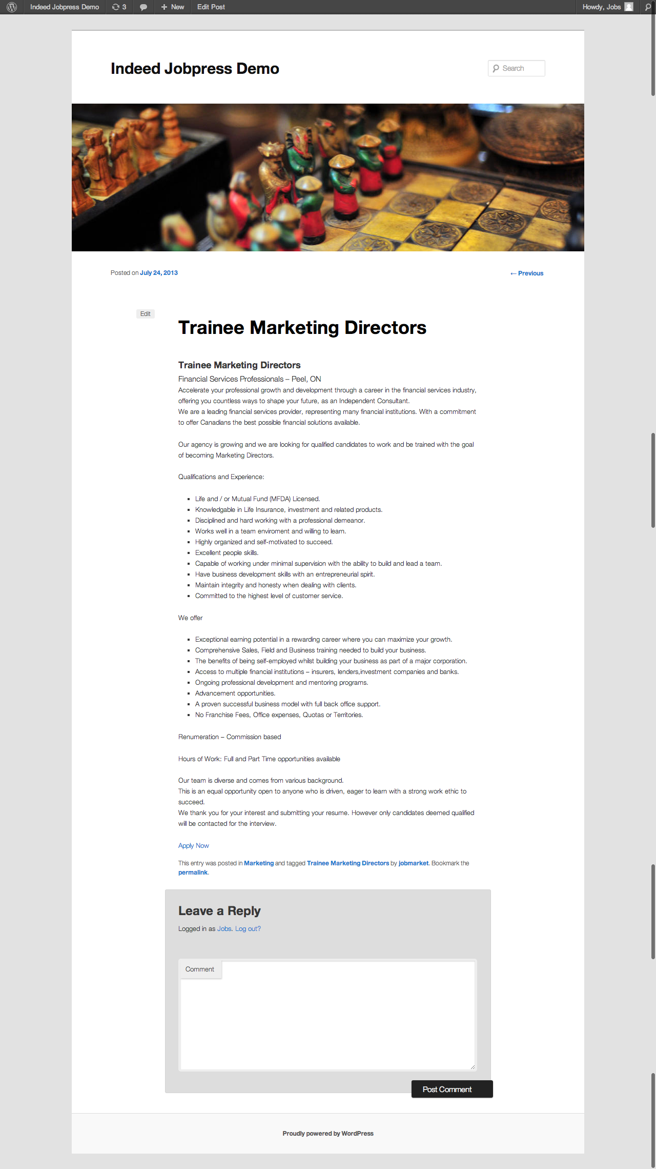 wp indeed importer by intensecool codecanyon indeed jobpress demo post png