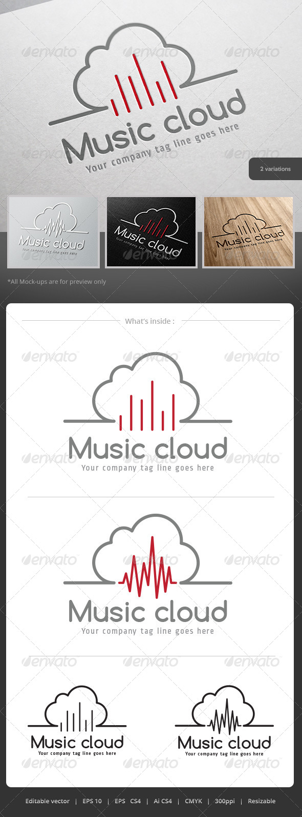 GraphicRiver Music Cloud Logo 5242081
