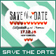 Wedding - Save the Date - Love Stripe - GraphicRiver Item for Sale