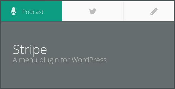 STRIPE – An animated menu plugin for WordPress (Menus) images