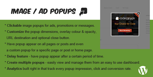 CodeCanyon Image Banner Ad Popup Plugin for WordPress 5242321