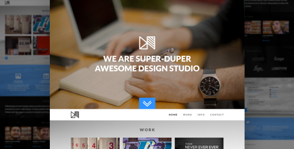 Nonus One Page Parallax HTML Portfolio - Portfolio Creative