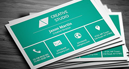 Flat / Metro Style Business Cards
