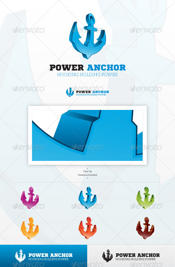 Power Anchor Logo - Symbols Logo Templates