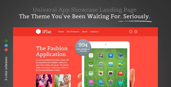 iFlat -  Univeral App Showcase Landing Page