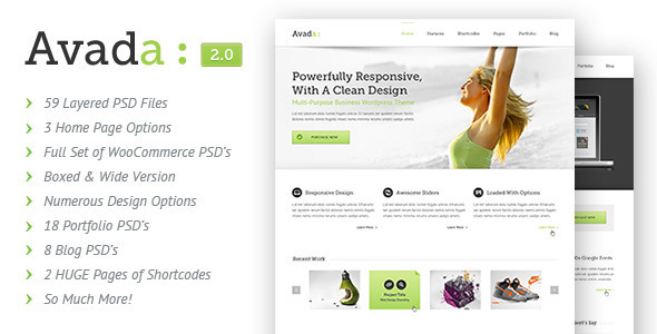 Avada | PSD - Corporate PSD Templates