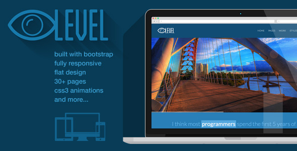 iLevel - Responsive Flat Design Bootstrap Template