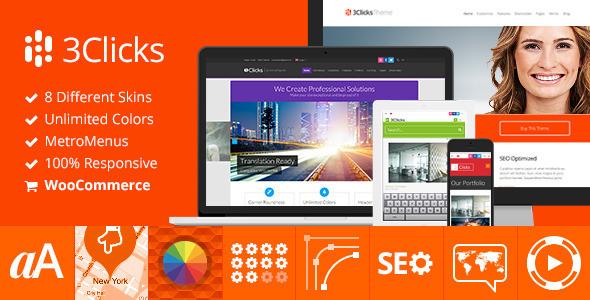 3Clicks | Responsive Multi-Purpose WordPress Theme - Business Corporate