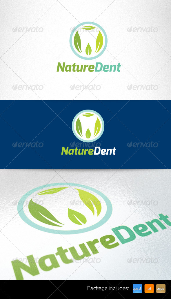 GraphicRiver Nature Dent Creative Logo Template 3464913