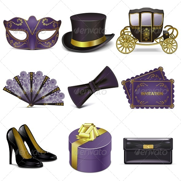 GraphicRiver Vector Masquerade Icons 5242899