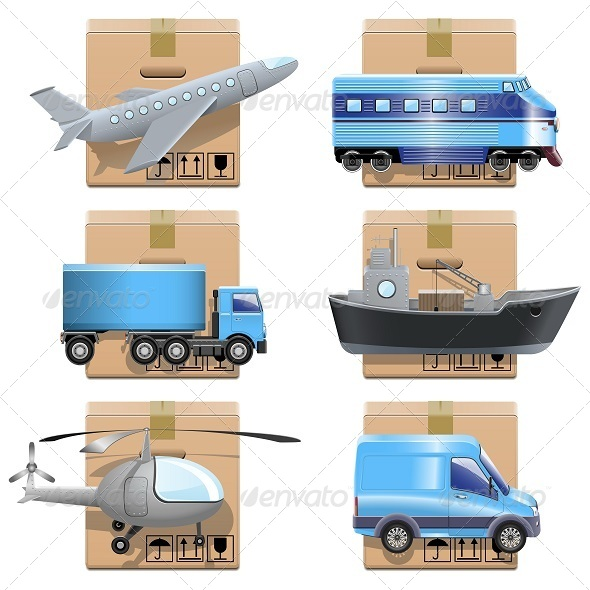 GraphicRiver Vector Shipment Icons 5242922