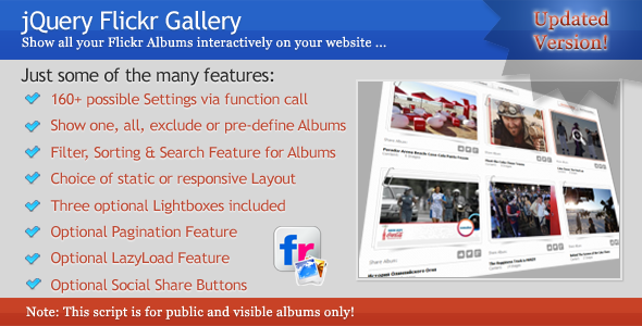 CodeCanyon jQuery Flickr Gallery 5242944