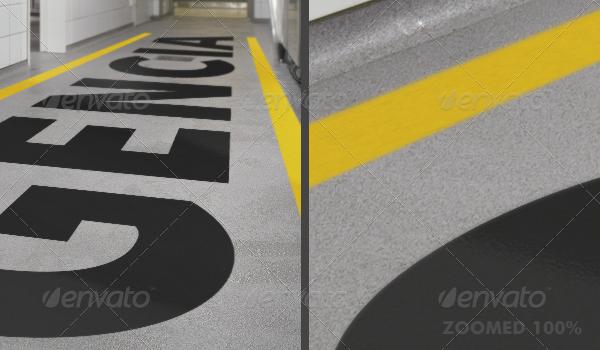 Floor Graphic Mockup Floor Graphics Mockup
