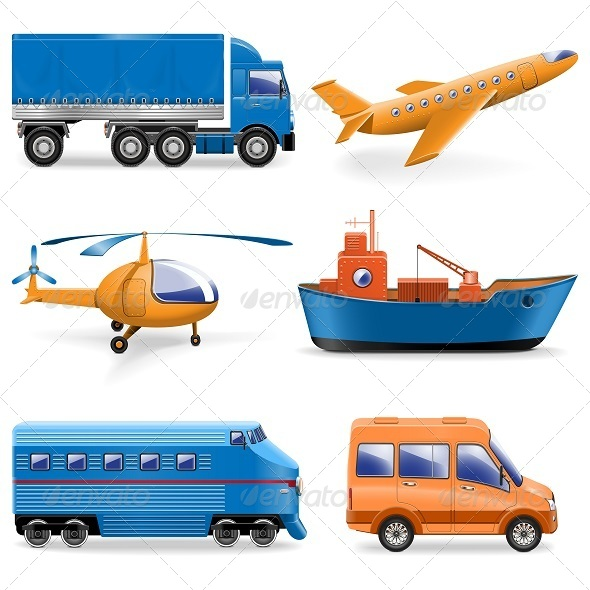 GraphicRiver Vector Transport Icons 5243094