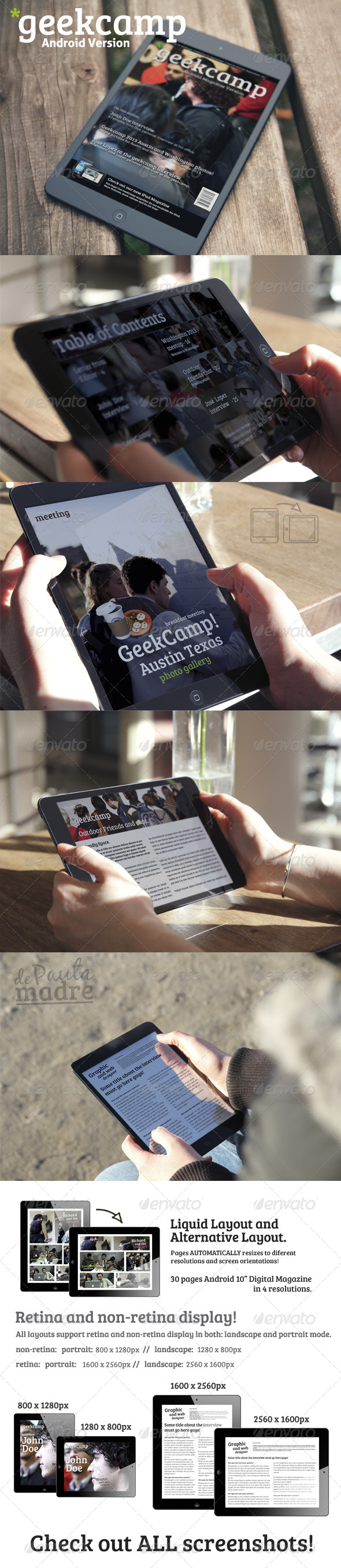 GraphicRiver Geek Android 10 Digital Magazine Template 4985916