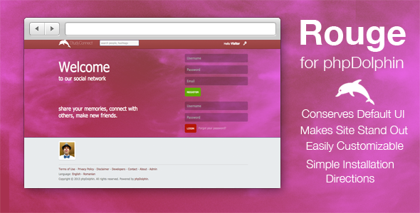 CodeCanyon Rouge Skin for phpDolphin 5243164
