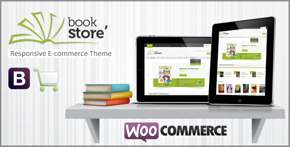 ThemeForest Book Store Responsive WooCommerce Theme 5243193