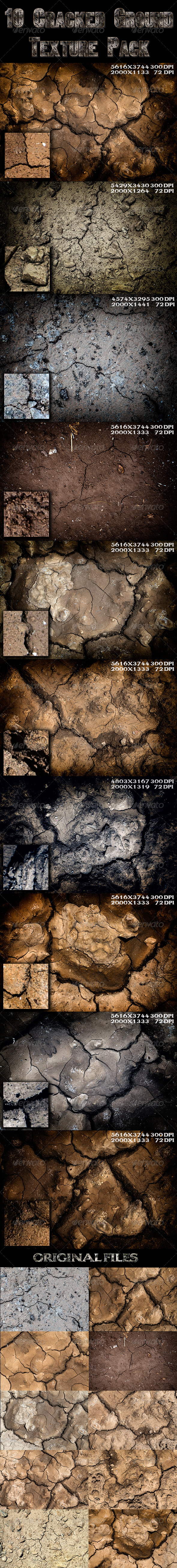 GraphicRiver 10 Cracked Ground Texture 5243538