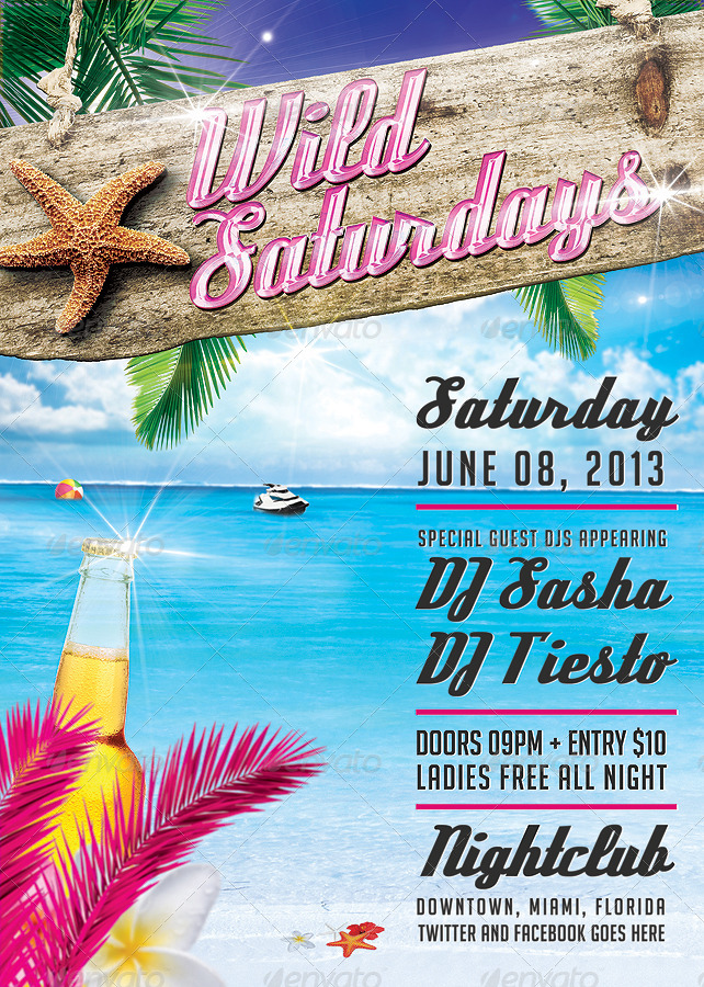 Wild Saturdays Flyer