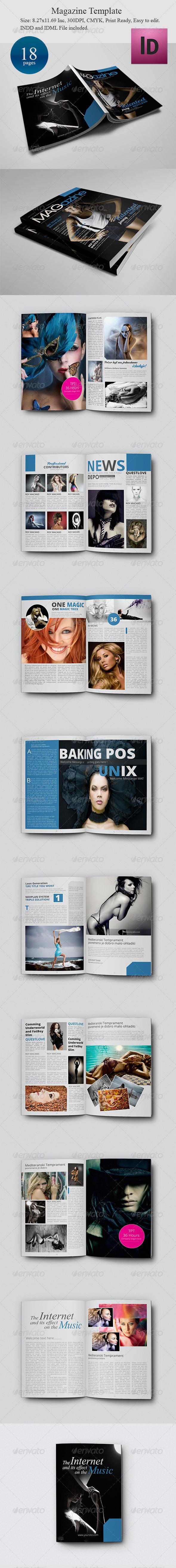 Premium Magazine Template - Magazines Print Templates