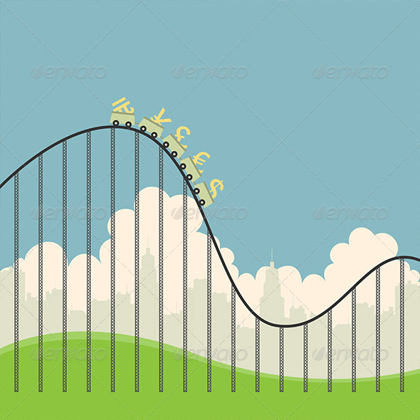 GraphicRiver Currencies on Roller Coaster 5243819