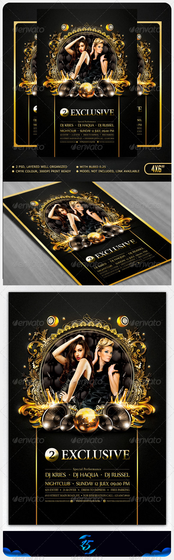GraphicRiver Two Exclusive Flyer Template 5244574