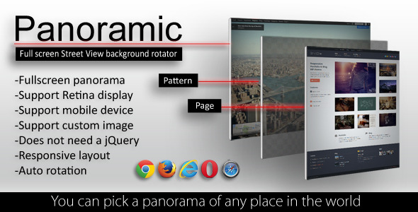 CodeCanyon Panoramic Full Screen Street View Rotator 5244648