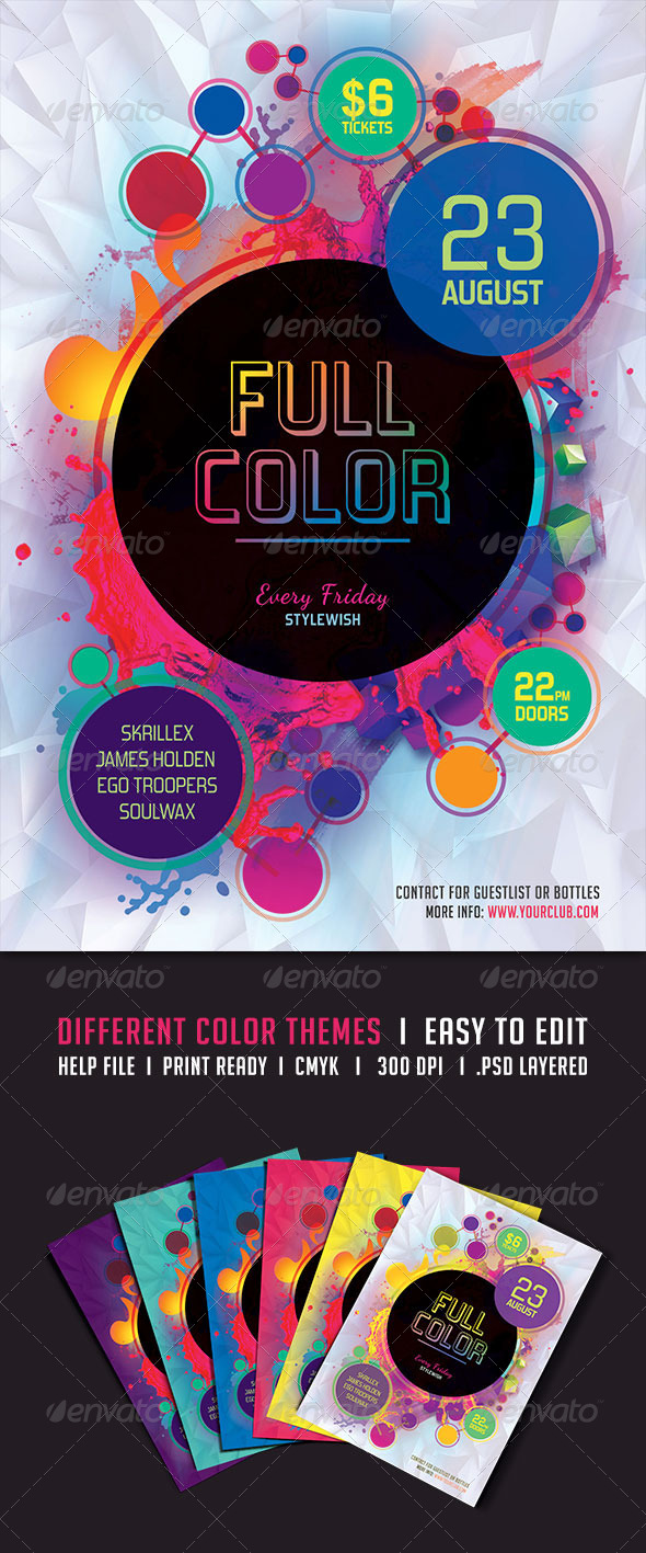 GraphicRiver Full Color Flyer 5244907