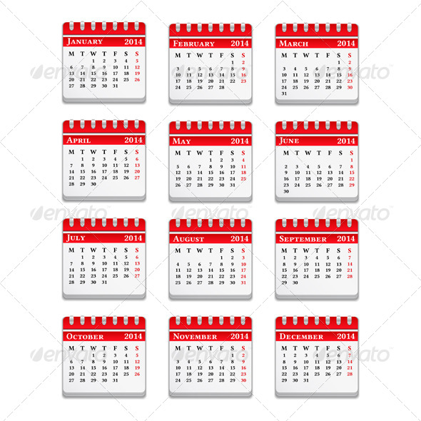 GraphicRiver 2014 Calendar 5245044