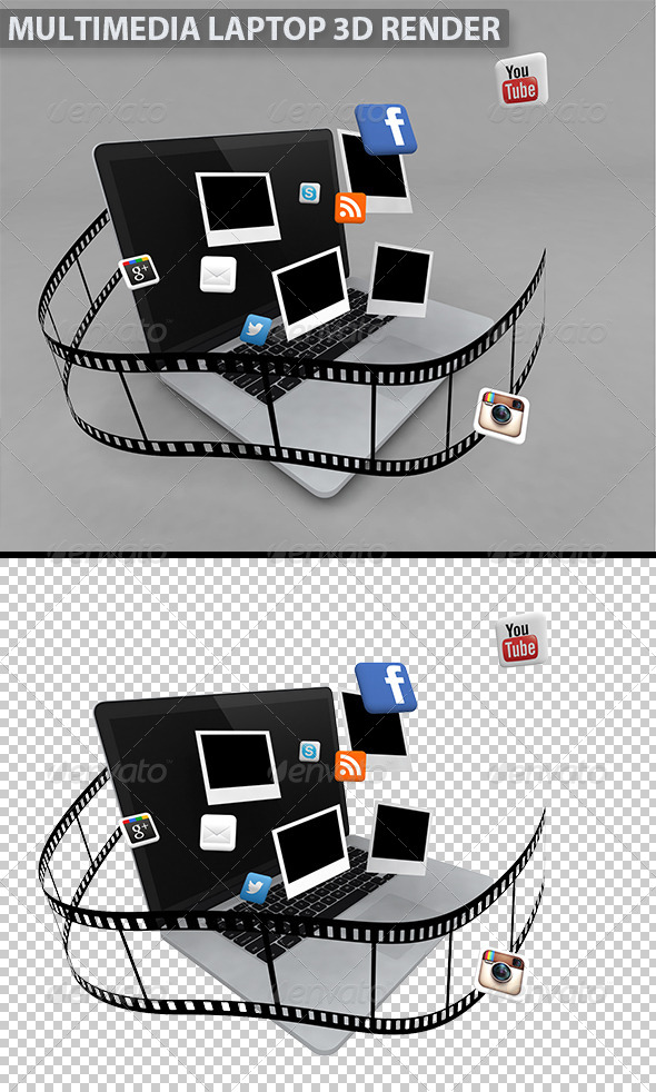 GraphicRiver Multimedia Laptop 5245047