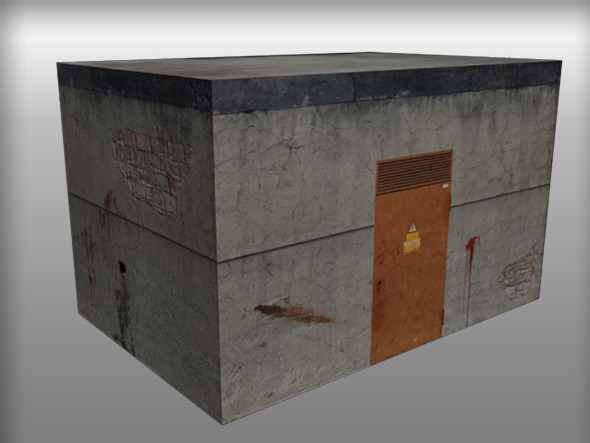 Low Poly Zombie Building - 3DOcean Item for Sale