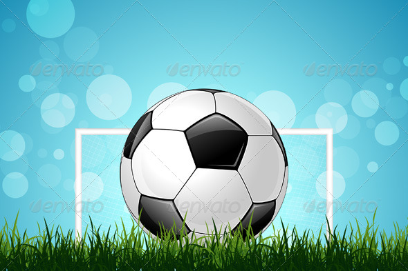 GraphicRiver Soccer Ball in Green Grass 5245056