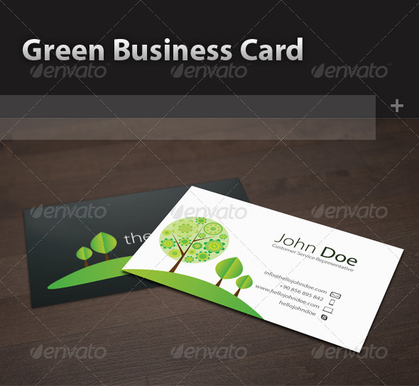 GraphicRiver Green Business Card 5179610