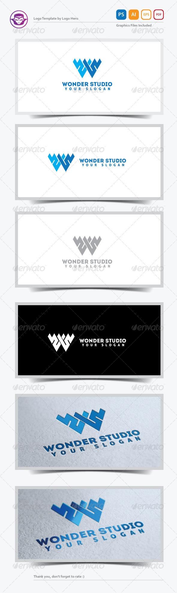 GraphicRiver Wonder Studio Logo Template 5245414