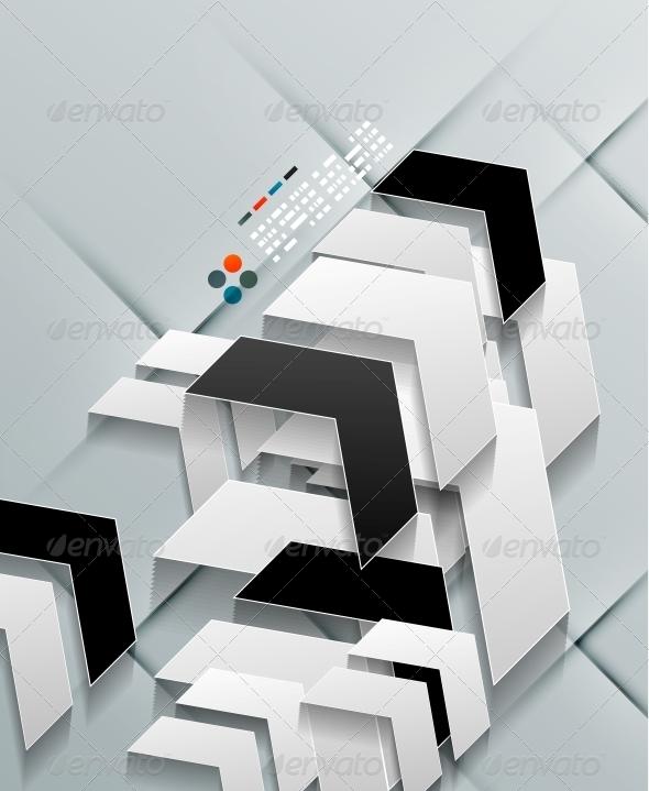 GraphicRiver Vector Arrows Paper Modern Design 5245561