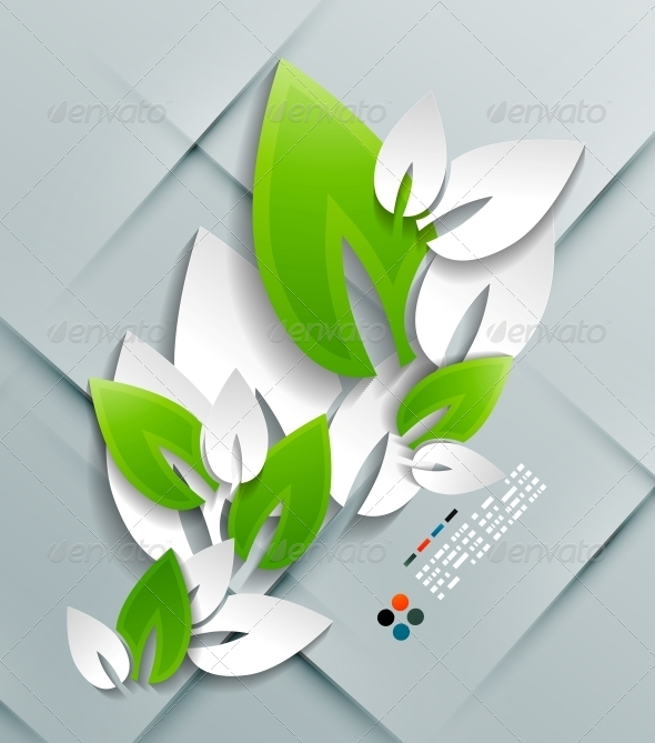 GraphicRiver Vector Paper Leaves Modern Design 5245623
