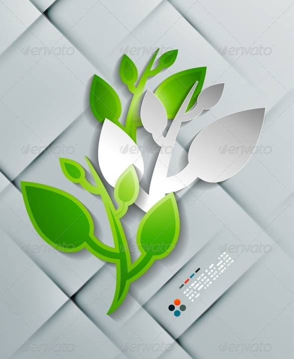 GraphicRiver Vector Paper Leaves Modern Design 5245625