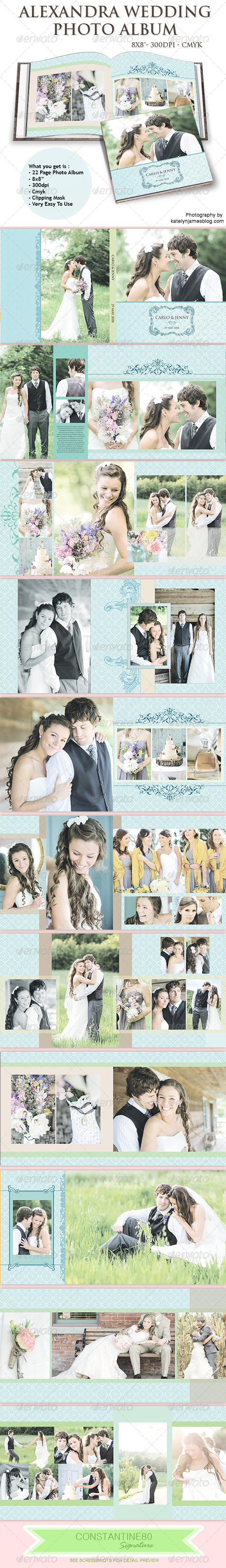 Alexandra Wedding Photo Album - Photo Albums Print Templates