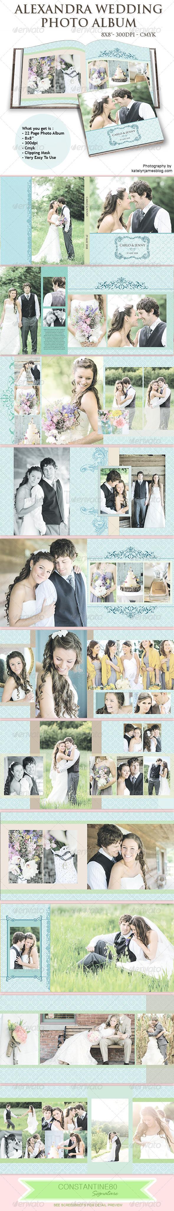 GraphicRiver Alexandra Wedding Photo Album 5245637